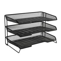 Rolodex Mesh Collection Stacking Sorter, 3-Section, Desk Tray, Standard Packaging