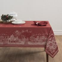 "Benson Mills Christmas Story Engineered Jacquard Fabric Tablecloth, 60"" by 120"""