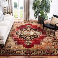 Safavieh Vintage Hamadan Collection VTH219A Oriental Antiqued Red and Multi Area Rug (8' x 10')