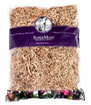 SuperMoss 7 59834 22303 0 Orchid Sphagnum Moss, 1400 in3 Bag (Appx. 32oz), Natural White