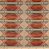 Artistry Tribal Southwest Adoette Chenille Jacquard Fabric By The Yard, Tango
