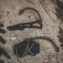 Southern Grind Vermin Neck Knife W/Black Blade and Black Kydex Sheath