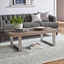 Amazon Brand – Stone & Beam New England Tassled Wool Farmhouse Area Rug, 8 x 10 Foot, Blue and Cream
