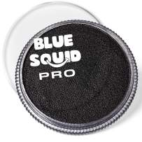 Blue Squid PRO Face Paint - Classic Black (30gm), Superior Quality Professional Water Based Single Cake, Face & Body Makeup Supplies for Adults, Kids & SFX
