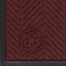 "M+A Matting 2240 Waterhog Classic ECO Elite PET Polyester Entrance Indoor Floor Mat, SBR Rubber Backing, 3' Length x 2' Width, 3/8"" Thick, Maroon"
