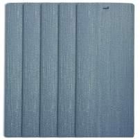 DALIX Arctic Blue Vertical Blind Texture Slats Sliding Door 98.5 Qty 5 Pack