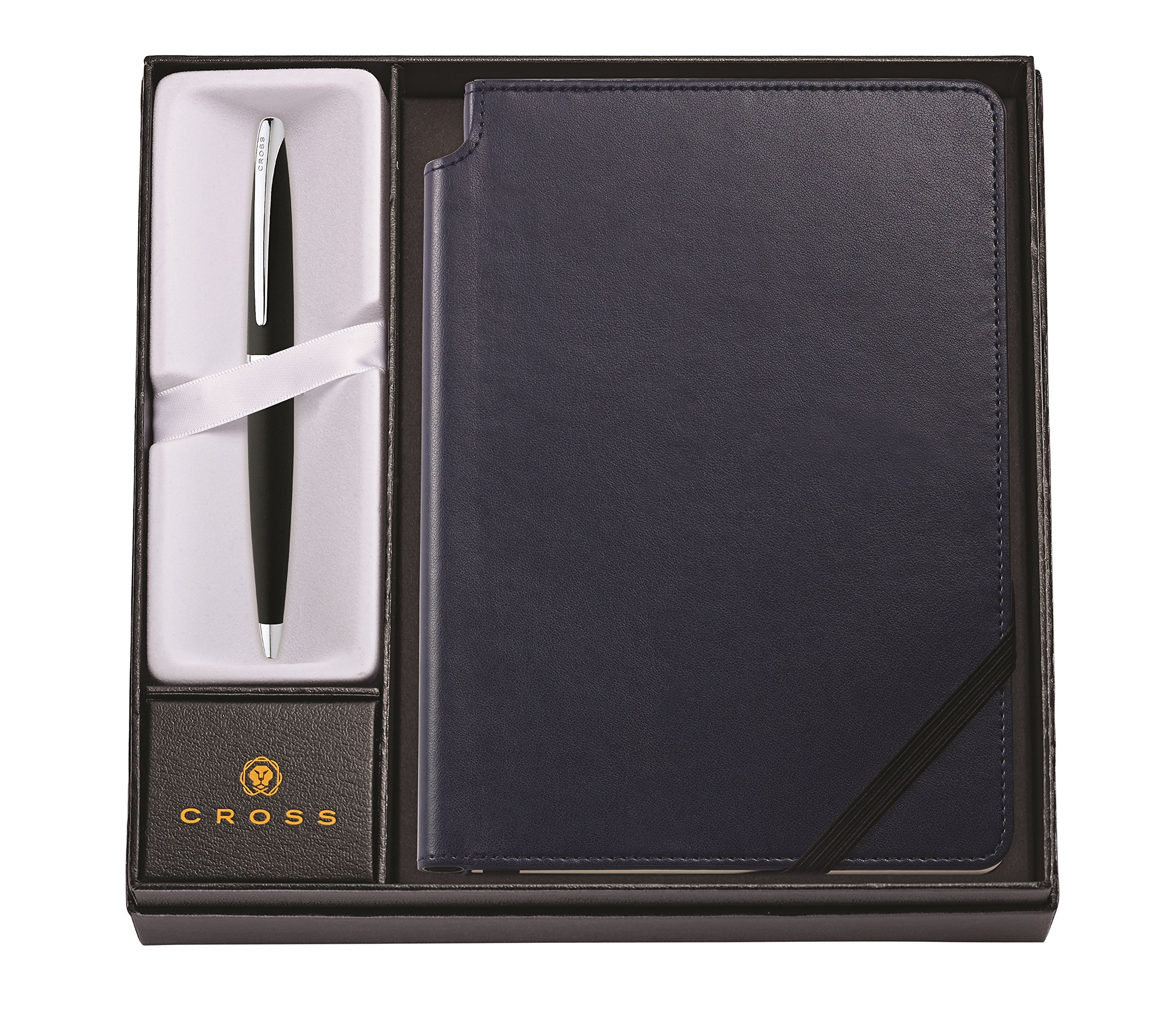 Cross ATX Basalt Black Ballpoint Pen & Midnight Blue Medium Journal