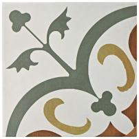 "SomerTile, White/Yellow/Green/Red FRC8REVM Reveil Ceramic Floor and Wall Tile, 7.75"" x 7.75"", Memory, 25 Piece"