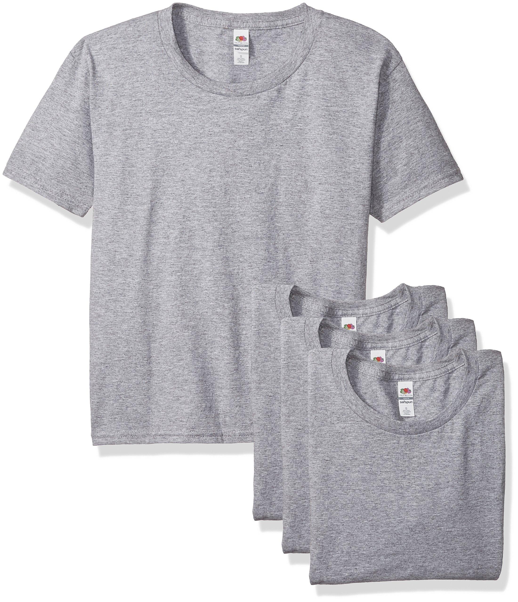 Fruit of the Loom Big Boys' Sofspun Youth T-Shirt (3-Pack)