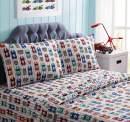 Kute Kids Super Soft Sheet Set - Big Race - Brushed Microfiber for Extra Comfort (Full)