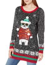 Blizzard Bay Women's Polar Bear Crew Neck Christmas Sweater