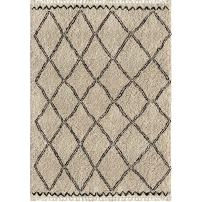 Orian Rugs Bedouin Collection 5001 Desert Trellis Area Rug with Fringe, 9' x 13', Off-White