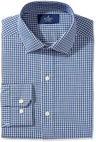 Amazon Brand - BUTTONED DOWN Men's Fitted Pattern Dress Shirt, Supima Cotton Non-Iron