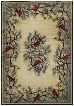 "United Weavers of America Hautman Cardinal in Pine 7'10"" x 10'6"" Rug Oversize, Multicolor"