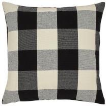 "Stone & Beam Farmhouse Buffalo Check Plaid Decorative Throw Pillow, 20"" x 20"", Black"