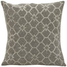 """Mina Victory by Nourison Beaded Stars Decorative Pillow, 16"""" x 16"""", Silver Grey"""