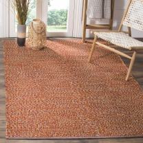 Safavieh Montauk Collection MTK602D Handmade Flatweave Orange and Multi Cotton Area Rug (5' x 8')