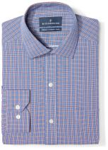 Amazon Brand - BUTTONED DOWN Men's Tailored Fit Plaid Dress Shirt, Supima Cotton Non-Iron