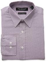 Nick Graham Men's Square Hole Print Stretch Dress Shirt