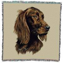 Pure Country Weavers Irish Setter Robert May Lap Dog Blanket Throw Woven from Cotton Made in The USA 54x54