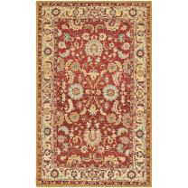 "Safavieh Chelsea Collection HK805A Hand-Hooked Red and Ivory Premium Wool Area Rug (3'9"" x 5'9"")"