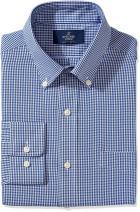 Amazon Brand - Buttoned Down Men's Classic Fit Button Collar Pattern Dress Shirt