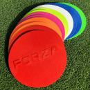 Net World Sports Forza Flat Disc Markers [7in Diameter] – Pack of 10 | High-Visibility Training Discs (7 Colors)