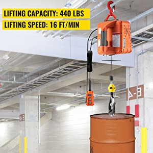 electric hoist with remote control