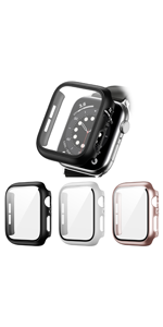 3 PACK Tempered Glass Screen Protector For Apple Watch Series
