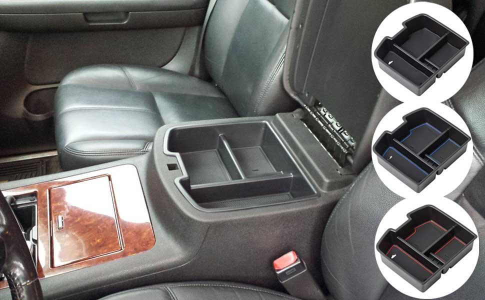 Console Organizer for Chevrolet Avalanche Chevy Tahoe Silverado Suburban 1500 2500 GMC Sierra Pickup