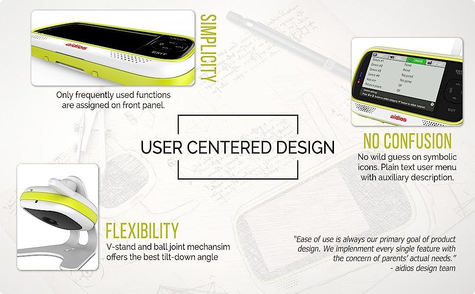 User centered design (UCD) - Simplicity, Flexibility, No confusion