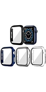 4 PACK Tempered Glass Screen Protector For Apple Watch Series