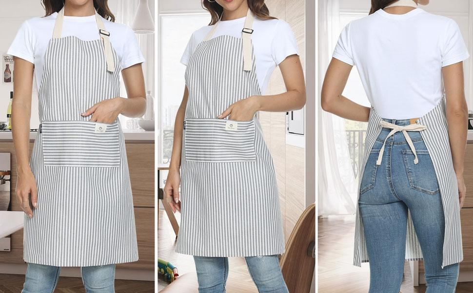 Apron for women with pockets
