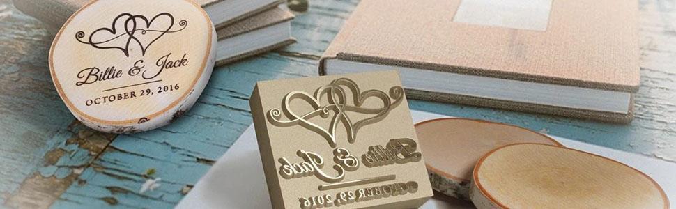 wood branding iron wedding