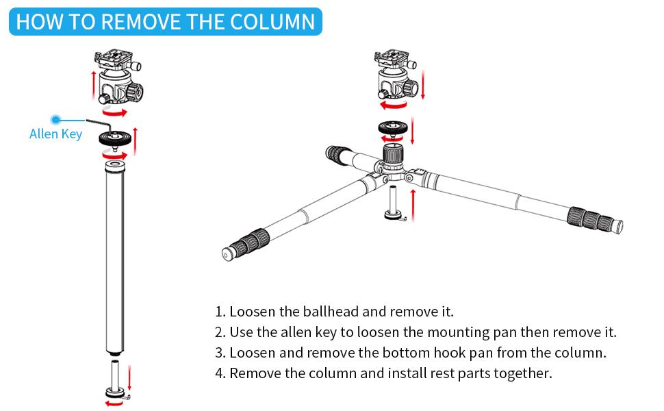 How to remove the column