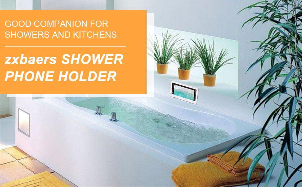 waterproof bathroom phone holder