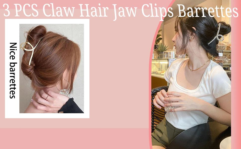 claw hair clip acrylic hairpins barrette jaw clamp hair clips claw hairpins for thick hair women