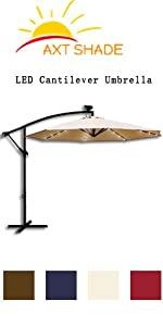 LED cantilever umbrella