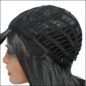 Long wavy wig wih bangs