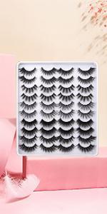 20 pairs styles mixed eyelashes strip cat eyes strip medium length false eyelashes 16mm long lashes