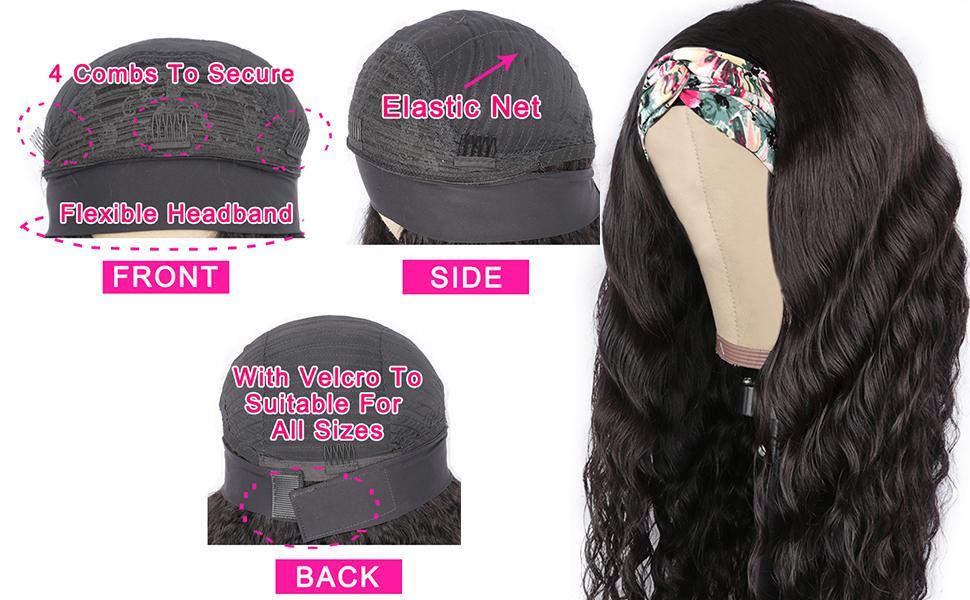 Loose Deep headband wig