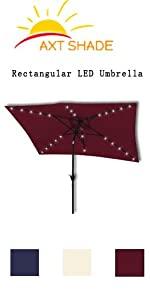 Rectangular LED Umbrella