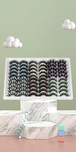 30 Pairs wholesale bulk eyelashes dramatic strip eyes crossed styles mixed fake lashes pack 18mm