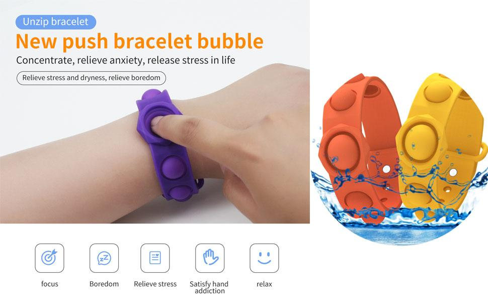 Push Bubble Sensory Fidget Bracelet Toy