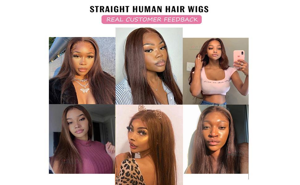 Imeya brown lace wig human hair