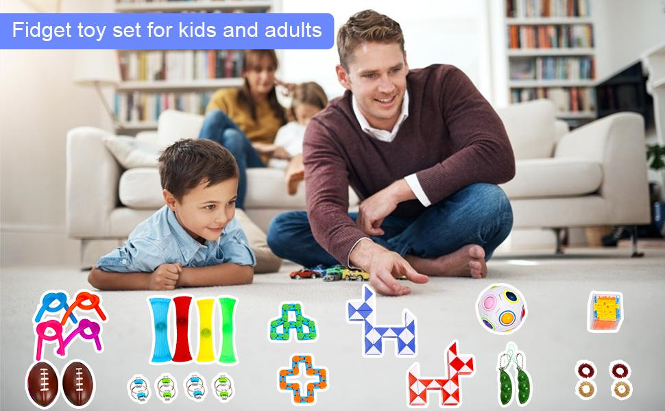 Fidget toy set for kids and adults