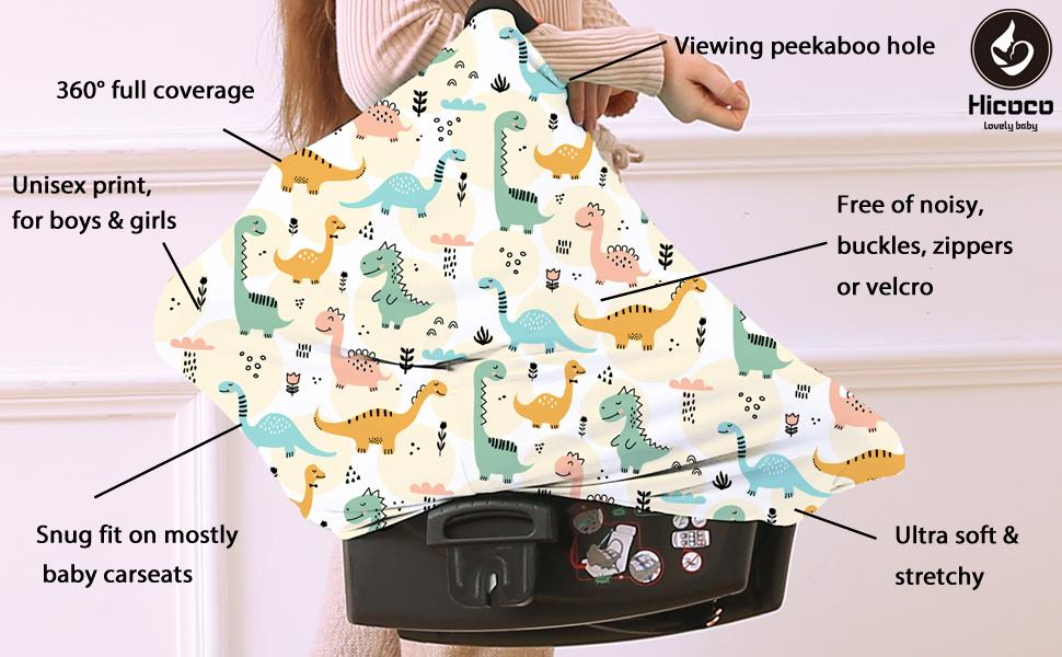 Nursing carseat canopy cover details