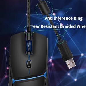 Anti lnference Ring Tear Resistant Braided Wire