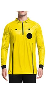 long sleeve soccer referee shirt