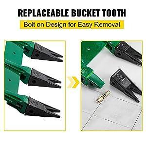 bobcat bucket teeth